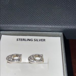 Sterling silver C C earnings (genuine coach)